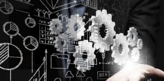 Image for Architecture of Active Learning article - blueprints and gears