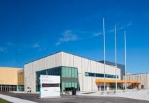 alt= image of exterior pan am centre scarborough