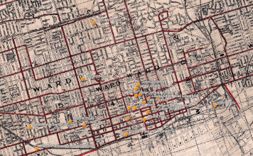 Image for Mapping History of Sex Work - map of Toronto