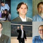 Composite image of six professors